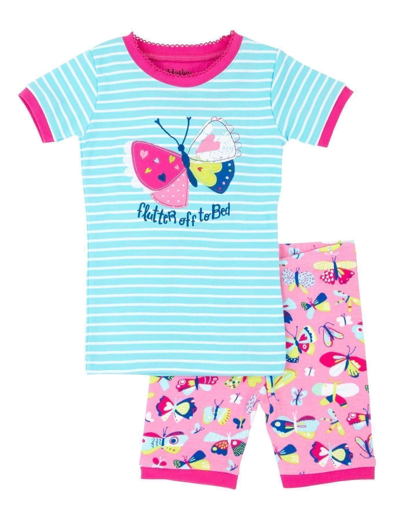 *NEW SEASON* Hatley White Rainbow Ladybirds Short Pyjamas Organic Cotton