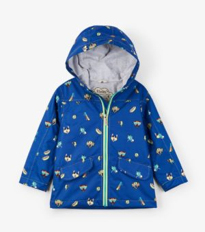 Hatley Baby Colour Changing Raincoat T-Rex Silhouettes