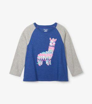 Hatley Adorable Alpacas Raglan Tee Shirt