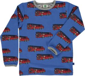 Aw19 Smafolk Lolite Blue Fire Truck Long Sleeve Top