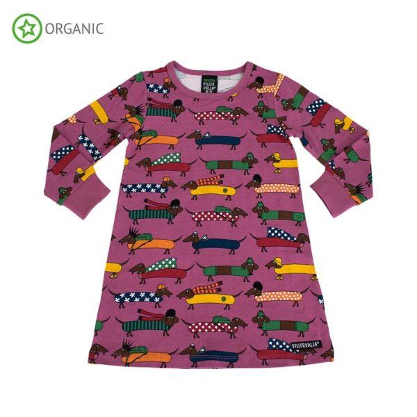 Villervalla Pink Smoothie Dachshund print Nightgown