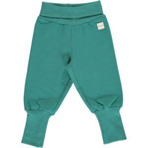 Aw19 Maxomorra Solid Teal Rib Pants