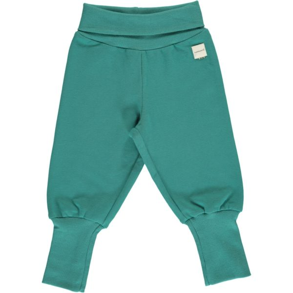 Aw19 Maxomorra Solid Teal Rib Pants