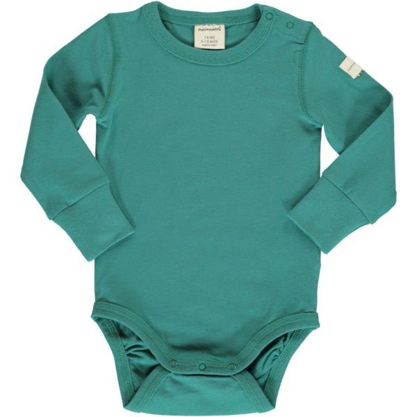 Aw19 Maxomorra Solid Teal Long Sleeve Body