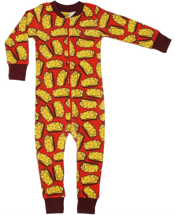 Duns of Sweden Mandarin Red Cheese Sandwich Zipsuit