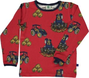 AW19 Smafolk Deep Red Tractor Long Sleeve Top