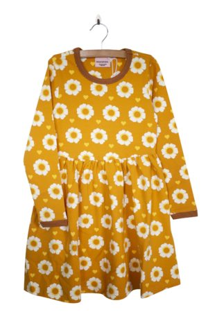 Aw19 Moromini 70's Flower Long Sleeve Twirly Dress
