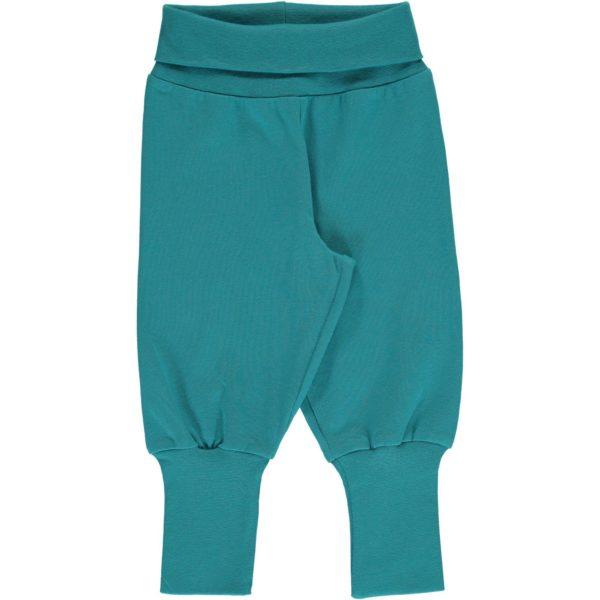 AW19 Maxomorra Solid Arctic Blue Rib Pants