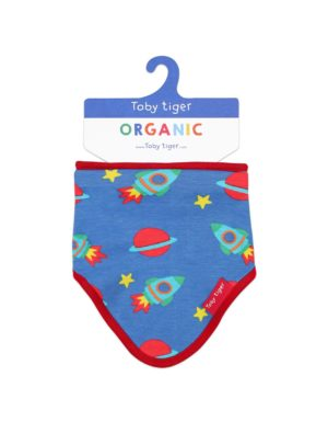 Toby Tiger Space Print Dribble Bib