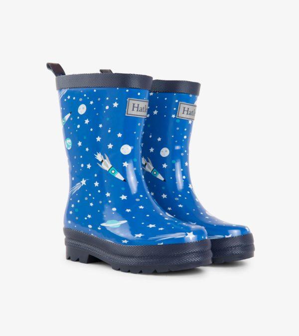Hatley Athletic Astronauts Waterproof Rain Boots