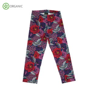 Aw19 Villervalla Purple Flower Leggings