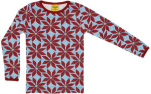 AW19 Duns of Sweden Blue Poinsettia ADULT Long Sleeve Top