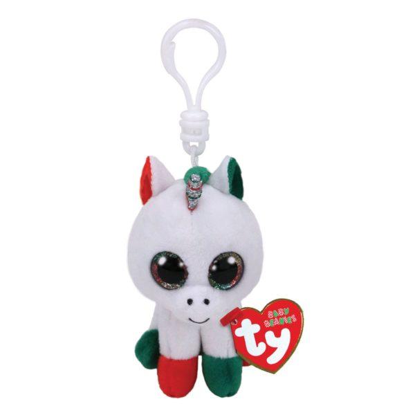 Ty Beanie Boos Candy Cane the Unicorn Key Clip