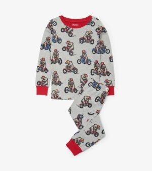 Hatley Biking Bears Organic Cotton Pyjamas