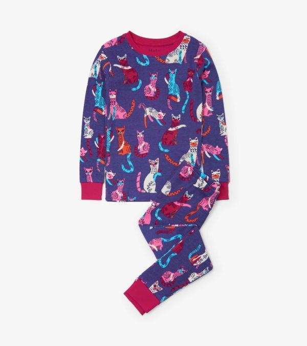 Hatley Patchwork Kitty Organic Cotton Pyjamas