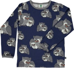 Aw19 Smafolk Medieval Blue Owl Long Sleeve Top