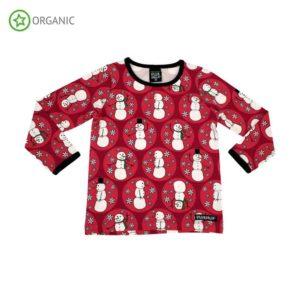 AW19 Villervalla Red Snowman Long Sleeve Top