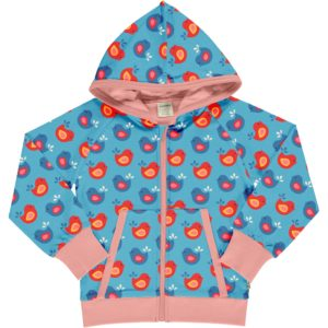 SS20 Maxomorra Bright Birds Hooded Cardigan