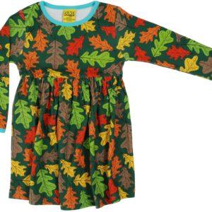 Duns of Sweden Oak Print Gathered Dress