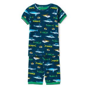 SS20 Hatley Game Fish Organic Cotton Short Pyjamas