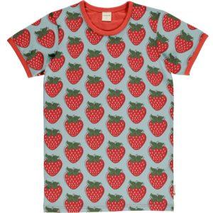 SS20 Maxomorra Strawberry Print ADULT Short Sleeve Top