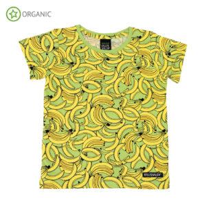Villervalla Banana Print Short Sleeve Top