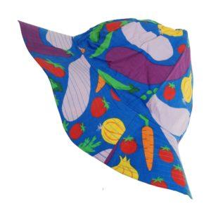 SS20 Duns Of Sweden Blue Cultivate Print Sunhat Size XL
