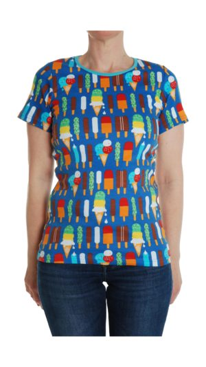 SS20 Duns Of Sweden Blue Ice Cream ADULT Short Sleeve Top