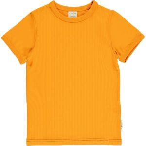 SS20 Maxomorra Tangerine Solid Colour Short Sleeve Top