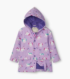AW20 Hatley Playful Unicorns Colour Changing Raincoat