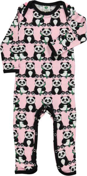 AW20 Smafolk Coral Blush Panda Sleepsuit Romper