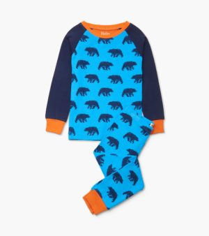 AW20 Hatley Blue Bears Organic Cotton Raglan Pyjamas