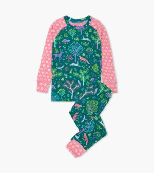 Aw20 Hatley Forest Friends Organic Cotton Raglan Pyjamas
