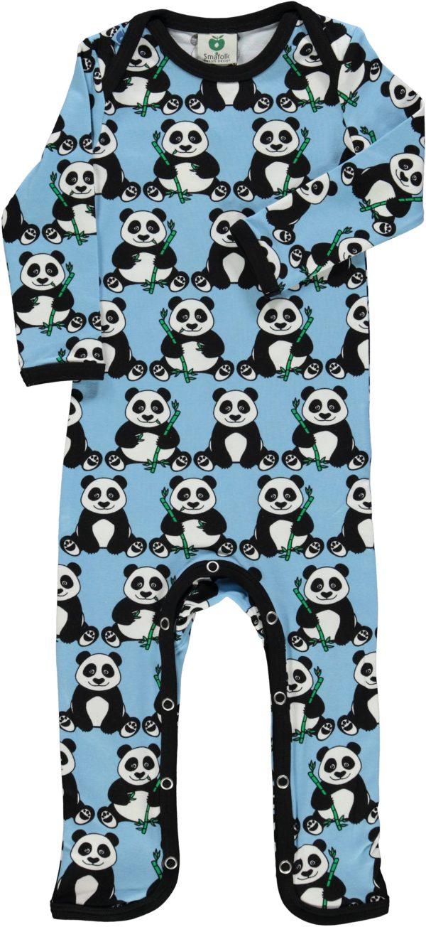 AW20 Smafolk Air Blue Panda Sleepsuit Romper