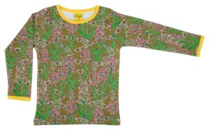 AW20 Duns of Sweden Olive Branch Willowherb Long Sleeve Top