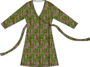AW20 Duns of Sweden Olive Branch Willowherb ADULT Wrap Dress