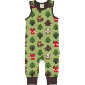 Aw20 Maxomorra Green Forest Playsuit