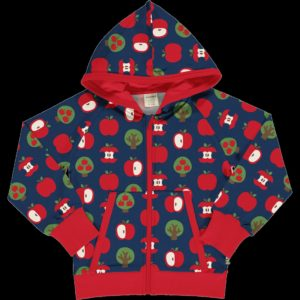 AW20 Maxomorra Apple Print Hooded Cardigan