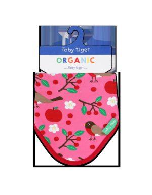 Toby Tiger Organic Robin Print Dribble Bib