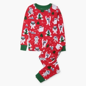 Hatley Yuletide Yetis Organic Cotton Pyjamas