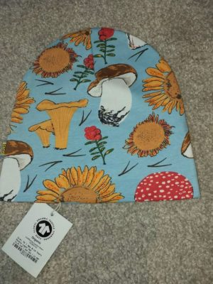 Duns of Sweden Blue Sunflowers and Mushrooms Jersey Hat