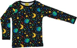 Duns of Sweden Black Mother Earth Long Sleeve Top