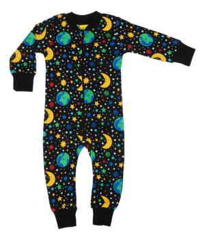 Duns of Sweden Black Mother Earth Zipsuit