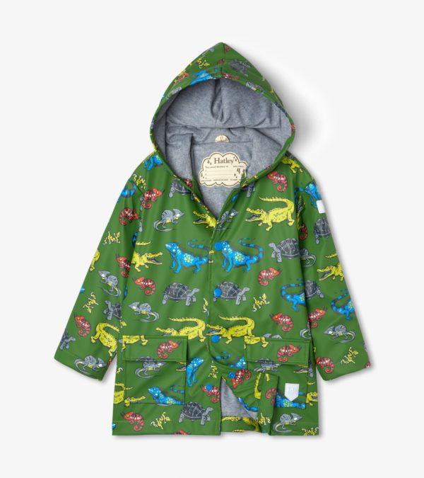 Hatley Aquatic Reptiles Waterproof Raincoat