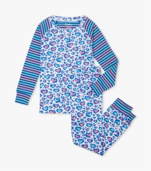 Hatley Cheetah Hearts Organic Cotton Pyjamas