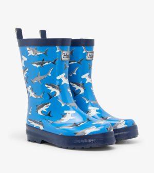 Hatley Deep Sea Sharks Shiny Rain Boots
