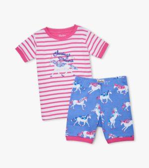 Hatley Dreamy Unicorns Organic Cotton Short Pyjamas