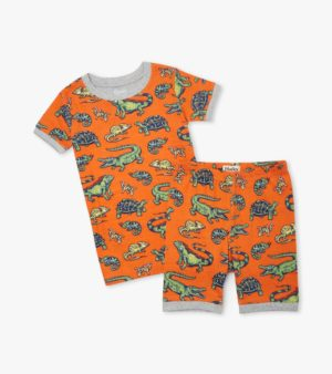 Hatley Aquatic Reptiles Organic Cotton Short Pyjamas