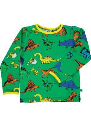 Smafolk Apple Green Dinosaur Long Sleeve Top