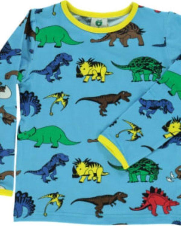 Smafolk Blue Grotto Dinosaur Long Sleeve Top